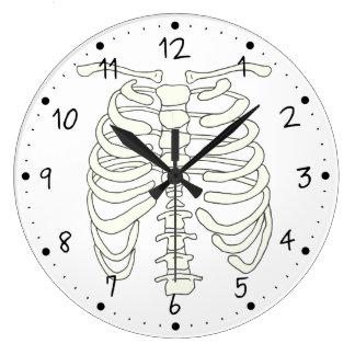 Halloween Chest Ribs Large Clock