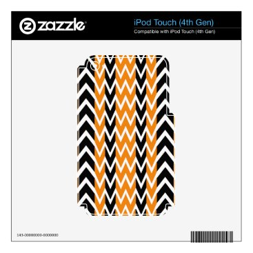 Halloween Themed Halloween Chevron Curves Decal For iPod Touch 4G