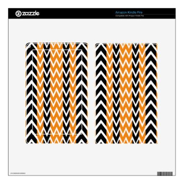 Halloween Themed Halloween Chevron Curves Decal For Kindle Fire