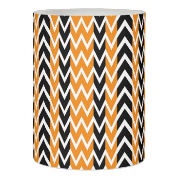 Halloween Themed Halloween Chevron Curves Flameless Candle
