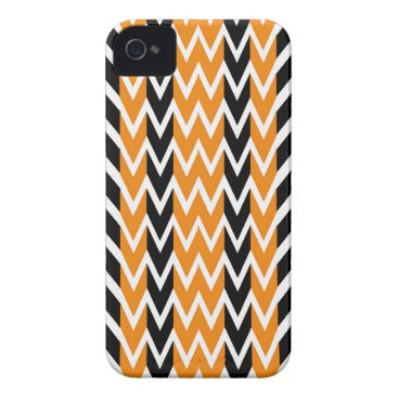 Halloween Themed Halloween Chevron Curves iPhone 4 Cover