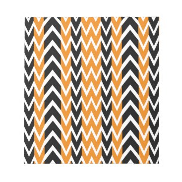 Halloween Themed Halloween Chevron Curves Notepad