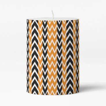 Halloween Themed Halloween Chevron Curves Pillar Candle