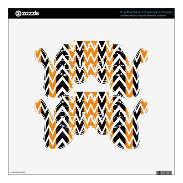Halloween Themed Halloween Chevron Curves PS3 Controller Decal