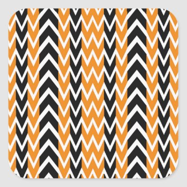 Halloween Themed Halloween Chevron Curves Square Sticker