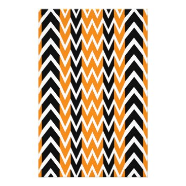 Halloween Themed Halloween Chevron Curves Stationery