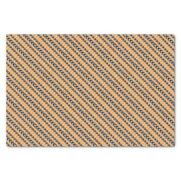 Halloween Themed Halloween Chevron Curves Tissue Paper