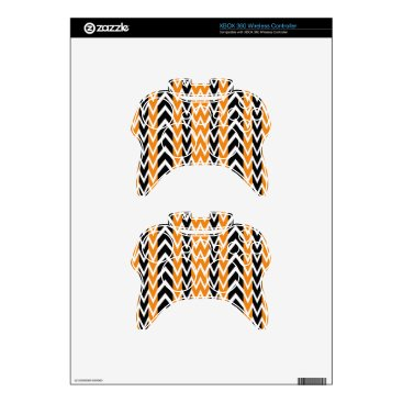 Halloween Themed Halloween Chevron Curves Xbox 360 Controller Decal