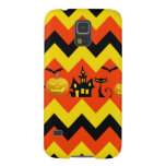 Halloween Chevron Haunted House Black Cat Pattern Galaxy S5 Covers
