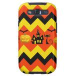 Halloween Chevron Haunted House Black Cat Pattern Samsung Galaxy SIII Case