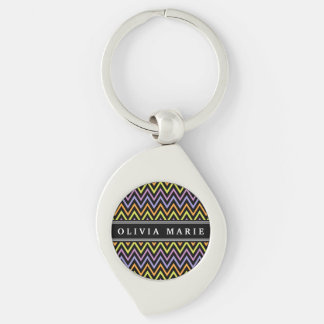 Halloween Chevron Pattern and Name Keychains