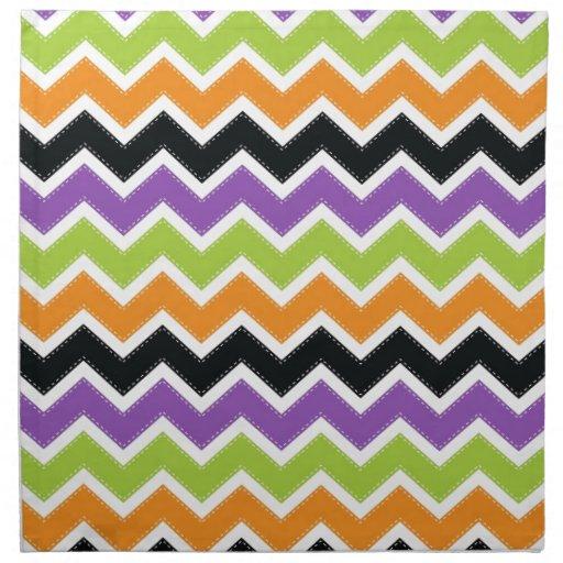 Halloween chevron pattern napkin zazzle for Halloween cloth napkins