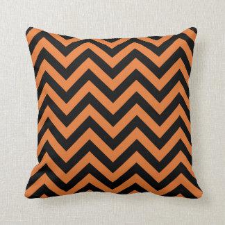 Halloween Chevron Pattern Pillow