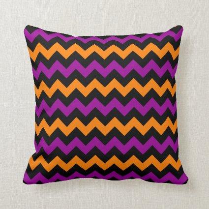 Halloween Chevron Pattern Throw Pillow