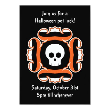 TheHopefulRomantic Halloween chic skull party card
