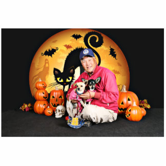 Halloween - Chihuahua - Baby & Hopey Photo Sculptures