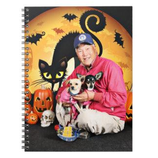 Halloween - chihuahua - bebé y Hopey Cuaderno
