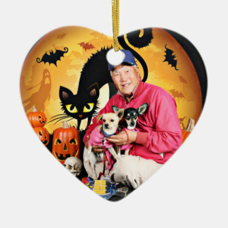 Halloween - chihuahua - bebé y Hopey Ornamentos De Reyes Magos