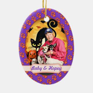 Halloween - chihuahua - bebé y Hopey Adornos