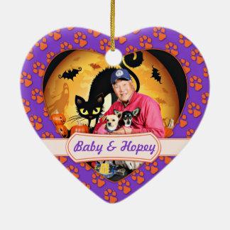 Halloween - chihuahua - bebé y Hopey Ornamento Para Arbol De Navidad