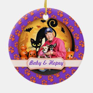 Halloween - chihuahua - bebé y Hopey Ornamentos Para Reyes Magos