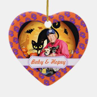 Halloween - chihuahua - bebé y Hopey Ornamentos De Reyes