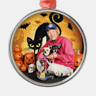 Halloween - chihuahua - bebé y Hopey Adornos De Navidad
