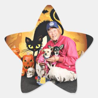 Halloween - chihuahua - bebé y Hopey Calcomanías Forma De Estrella
