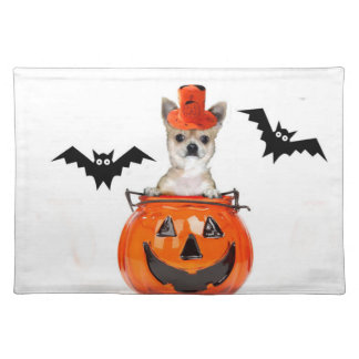 Halloween Chihuahua dog Cloth Placemat