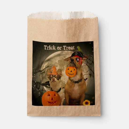 Halloween Chihuahua dog favor bags
