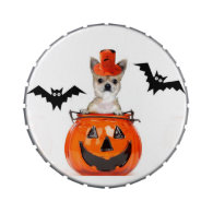 Halloween Chihuahua dog Jelly Belly Tin
