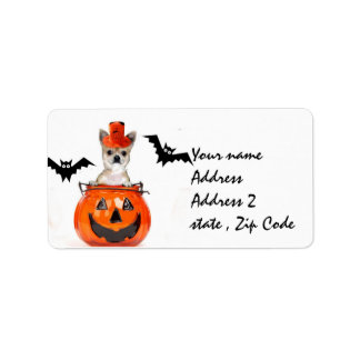 Halloween Chihuahua dog Label
