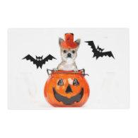 Halloween Chihuahua dog Laminated Place Mat