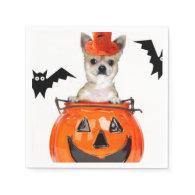 Halloween Chihuahua dog Standard Cocktail Napkin