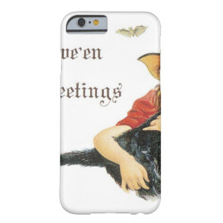 Halloween Child Witch with Black Cat iPhone 6 Case
