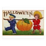 Halloween Children Postcard