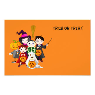 Halloween children trick or treating flyer
