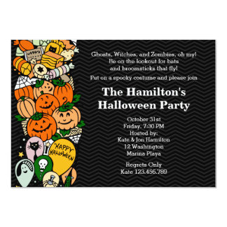 Halloween Children's Costume Party 4.5x6.25 Paper Invitation Card