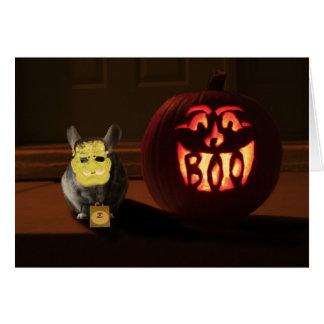 Halloween Chinchilla Greeting Card