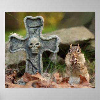Halloween Chipmunk Poster