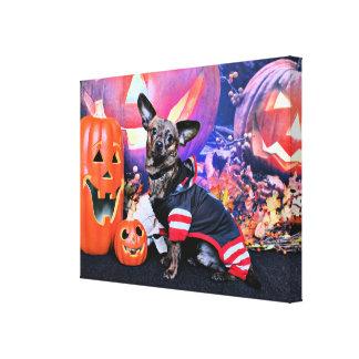 Halloween - Chiweenie - Sherekhan Canvas Print