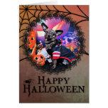 Halloween - Chiweenie - Sherekhan Tarjeta De Felicitación