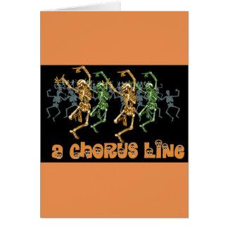 Halloween Chorus Line Card
