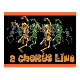 Halloween Chorus Line Postcard