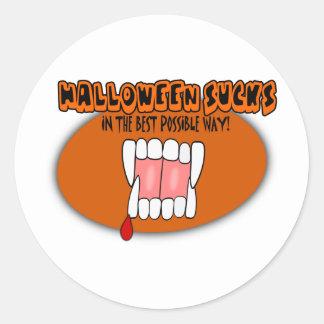 ¡Halloween chupa de la mejor manera posible! Pegatina Redonda
