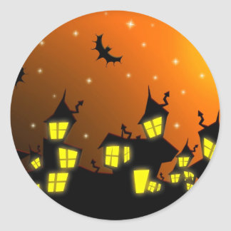 Halloween City Classic Round Sticker