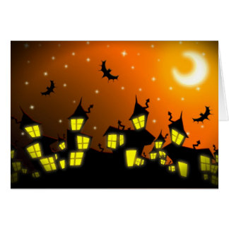 Halloween City Greeting Card