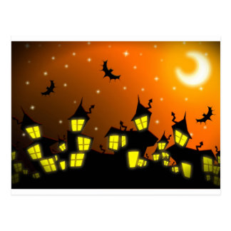 Halloween City Postcard