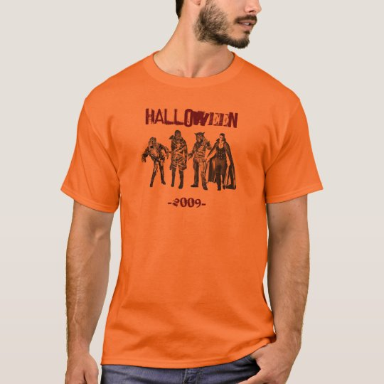 Halloween classic characters chillin' T-Shirt