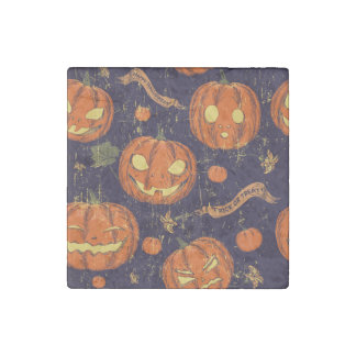 Halloween,classic,pumkin,vintage patten,scary,cute stone magnet